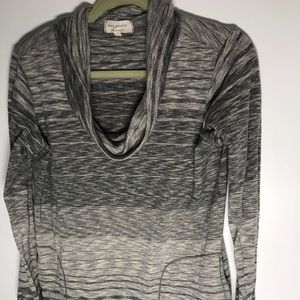 Heather gray cowl neck athletic pullover